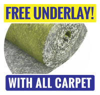 Free Underlay with All Carpet